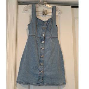 Denim & Co Denim button dress